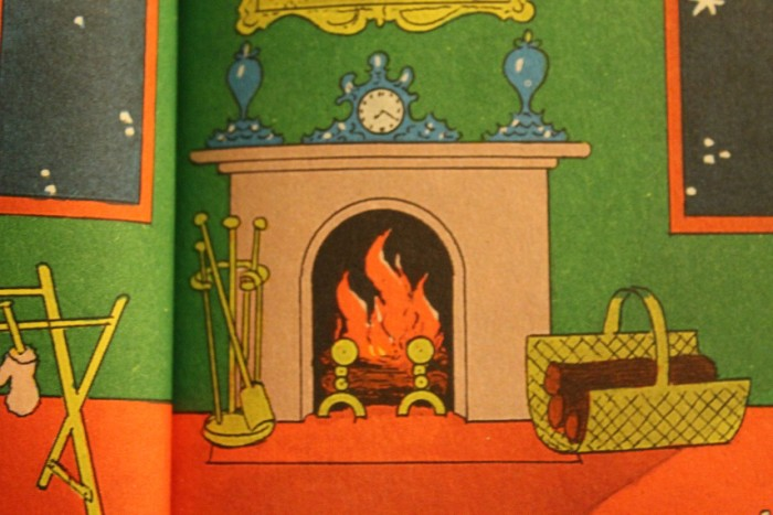 "Also, nothing says ""child's bedroom"" like an expensive mantelpiece clock bordered by Cookie Monster-blue funeral urns."